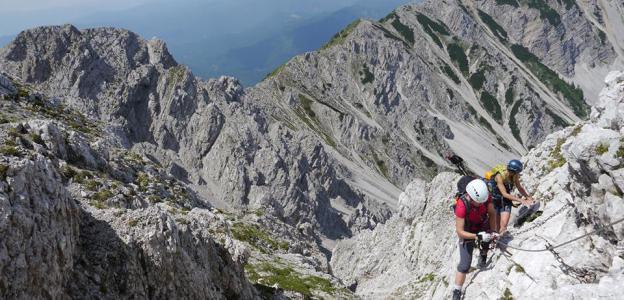 Klettersteig auf den Hochstuhl